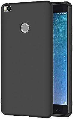 AICEK Funda Xiaomi Mi MAX 2, Negro Silicona Fundas para Xiaomi Mi ...
