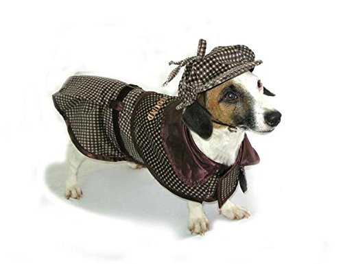 Sherlock Hound - Deluxe Sherlock Holmes Detective Costume for Dogs by Puppe Love (Size 5 (14'' l x 18.5'' - 20.5'' g)) by Puppe Love