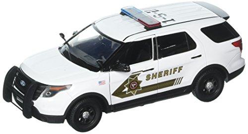 Motor Max 1:24 W/B 2015 Ford Police Utility San Bernandino County Diecast Vehicle (1 24 Police)