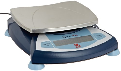 Ohaus SP6001 AM Scout Pro Portable Electronic Balance, 6000g Capacity, 0.1g Readability ()