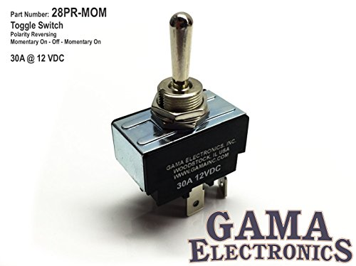 Mom Switch - GAMA Electronics 30 Amp Toggle Switch 3 Position Polarity Reversing DC Motor Control- Momentary
