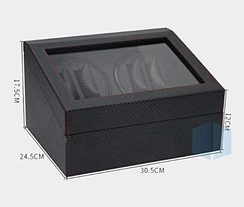 ワインディングマシーン 自動ウォッチワインダー4 + 6の時計ダブルボックスシングルウォッチワインダーバッテリーウォッチローテータベッドルームオフィス KANULAN