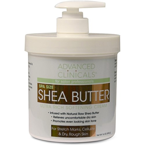 Advanced Clinicals Spa Size Shea Butter Ultra Rich Softening Cream. 16oz