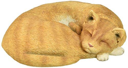 Sandicast Life Size Orange Cat, Lying