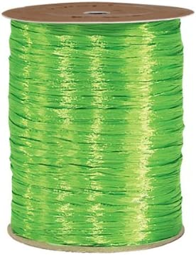Pearlized Celadon Gift Wrap Packaging Raffia Ribbon with Contoured Novelty Gift Tags
