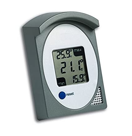 MAXMIN Digitales Maxi-Mini-Thermometer Lufttemperatur Innen und Außen
