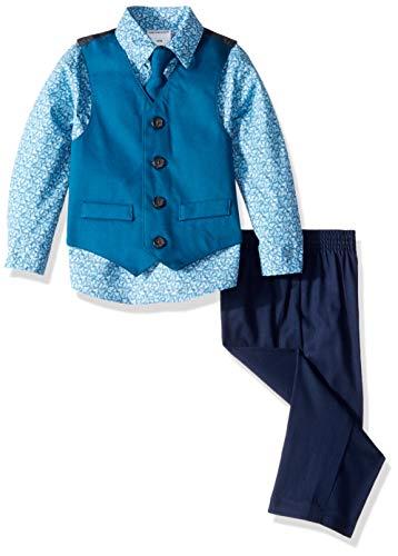 Van Heusen Baby Boys 4-Piece Patterned Dresswear Vest Set, Olympia Print 12 Months]()