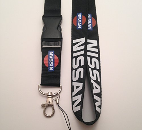 Nissan negro coche Auto Logo cordón llavero soporte para ...