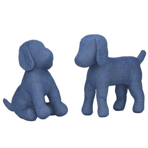 Buy Teafco Cleo Blue Denim Dog Mannequin Standing Online At Low