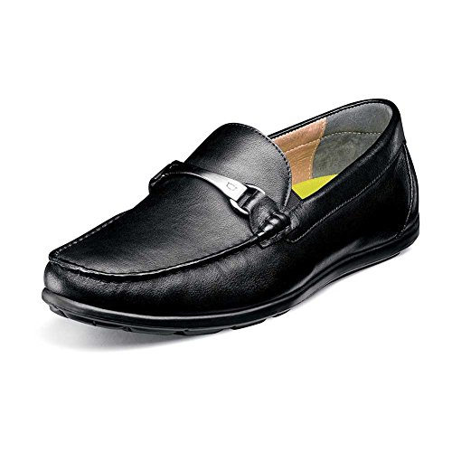 Florsheim Draft Moc Toe Bit Driver Mens Slip On Black