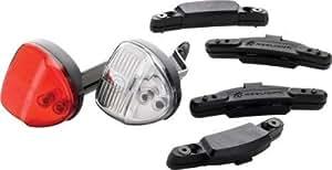 Reelight SL100 Flashing Compact Generator Bicycle Headlight and Tail Light Set