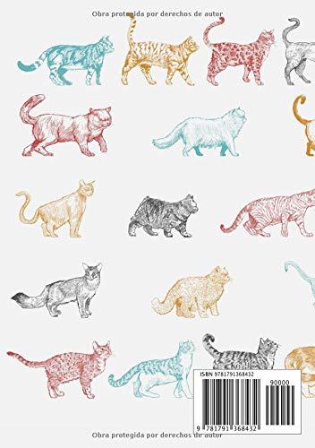 Libretas de Puntos: Cuadernos con Puntos, Cuaderno A5 Puntos, Cuaderno Dot, Cuaderno Dot Grid - Cuaderno Gato #15 - Tamaño: A5 (14.8 x 21 cm) - 110 . ...