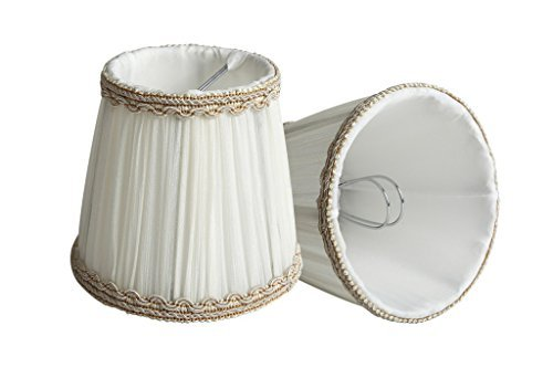 Splink Hall de lámpara pequeña forma de campana Clip-on E12/E14 Lámpara de tela tulipas, 85 * 120 * 110 mm, juego de 2