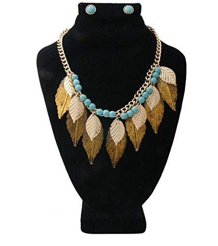 ChiqueTrendz Leaf Pendants Necklace Set ()