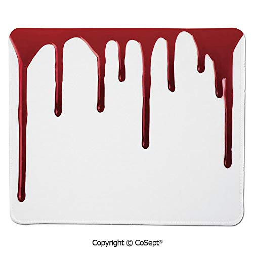 Quality Selection Comfortable Mouse Pad,Flowing Blood Horror Spooky Halloween Zombie Crime Scary Help me Themed Illustration,Dual Use Mouse pad for Office/Home (7.87