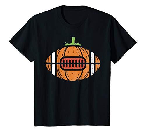 Kids Halloween Shirt Football Pumpkin Sport Player
