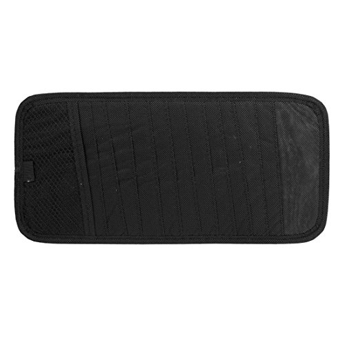 - ZCHXD Black Nylon Rectangle 12 Capacity CD Discs Holder Bag for Auto Car