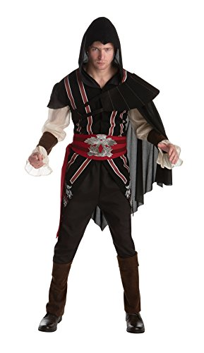 UHC Men's Assassins Creed Ezio Outfit Adult Fancy Dress Halloween Costume, L (Ezio Outfit)