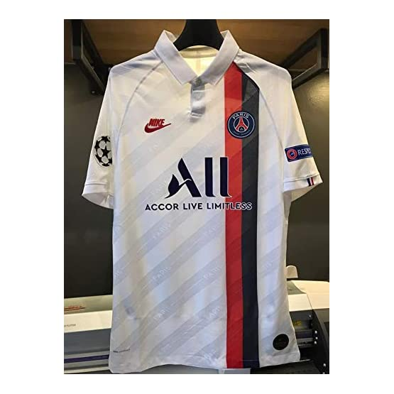 MBAPPE#7 PSG. Away Soccer Jersey Maillot 2019-2020 Full UCL. Patch