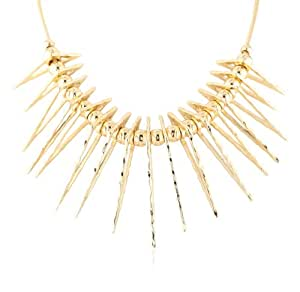 Jules Smith Gold-Tone Spike Bib Necklace, 21""