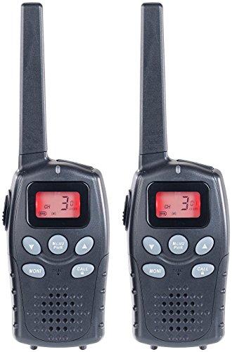simvalley communications Profi-Walkie-Talkie-Set, bis 10 km, VOX, Akkus, USB-Ladeport, 2er-Set