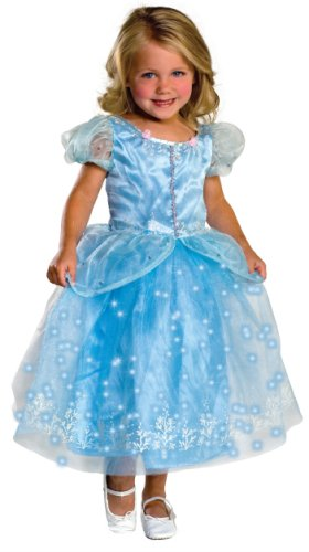 Cinderella Classic Toddler Costumes (Child's Crystal Princess Costume with Fiber Optic Light Twinkle Skirt - Small)