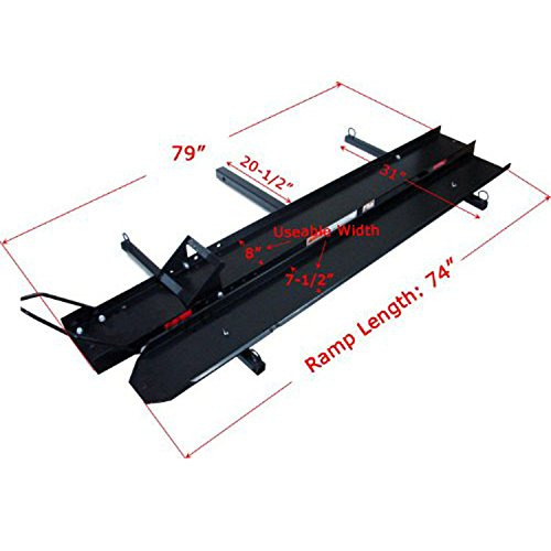 ALEKO 600 Pound Capacity Motorcycle and Sport Bike Cargo Carrier Rack with the Foldable Ramp