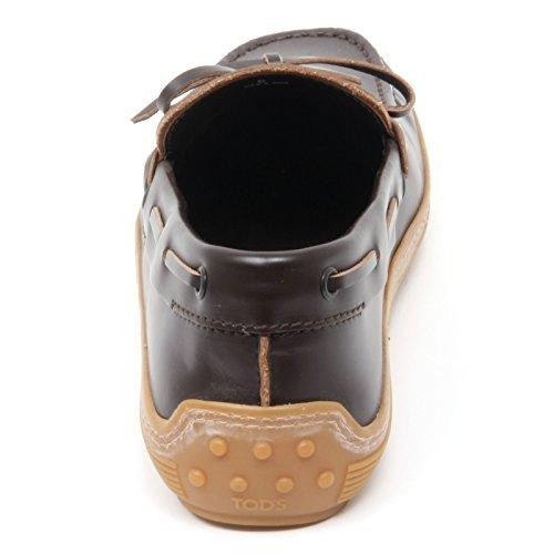 B8351 mocassino uomo TODS MARLIN scarpa marrone scuro shoe loafer man Marrone scuro