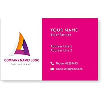 Amazon design your own personalised logo business cards custom design your own personalised logo business cards custom professional company visiting card front reheart Image collections