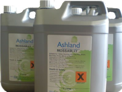 Mossaway 5L - Algae, Lichen and Moss Remover - FOR SUPERIOR PROFESSIONAL MOSS KILLER. Ashland Chemicals