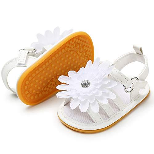 BENHERO Infant Baby Boys Girls Sandals Soft Sole Non Slip Toddler Prewalker Crib Summer Outdoor Walking Shoes (0-6 Months M US Infant), A-White