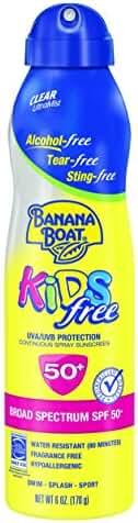 Banana Boat Sunscreen Kids Ultra Mist Tear-Free Sting Free Broad Spectrum Sun Care Sunscreen Spray - SPF 50, 6 Ounce