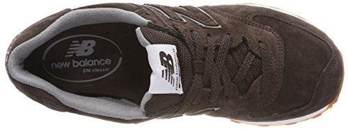 brown A Uomo Sneaker Pigskin Basso Balance Full Collo New Marrone 574 8q7tB