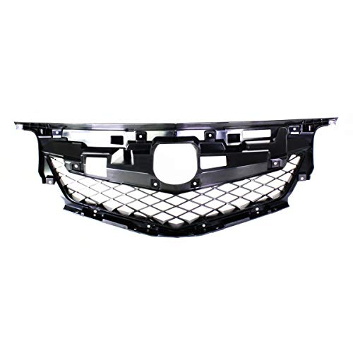 New Front Grille Frame For 2009-2011 Acura TL Matte-Black, Made Of Plastic AC1202100C CAPA ()