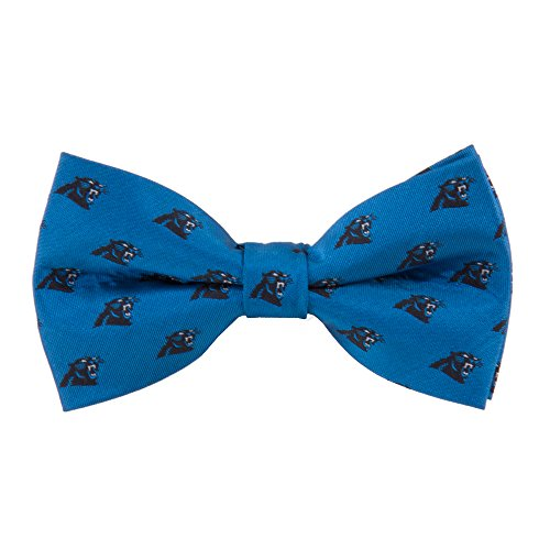 NFL Carolina Panthers Men's Woven Polyester Repeat Bowtie, One Size, Multicolor