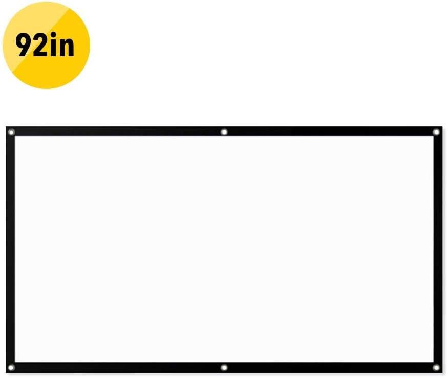 4: 3 Filmtuch Praktisches Heimkino Faltbar Beamer Leinwand Outdoor Indoor Mobile,60//72//84//92 Zoll Einfach Zu Installierende Leinwand Projektor-Anti-Licht-Leinwand