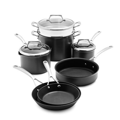 Amazon.com: Sur La Table Dishwasher-Safe Hard-Anodized Nonstick 10 ...