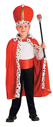 UHC Robe Crown Christmas Nativity Fancy Dress Medieval King Costume Accessory, Child (King Fancy Dress Child)
