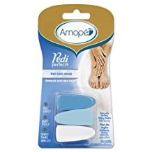 Amope Perfect Pedicure, Waterproof Rechargeable Electronic Foot File Refills for Soft Beautiful Feet, Coarse,