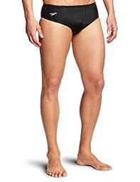 Speedo Men\'s Aquablade Brief Swimsuit, Black, 36