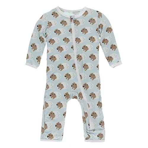 Kickee Pants Little Boys Print Coverall with Zipper - Spring Sky Diictodon, 2T