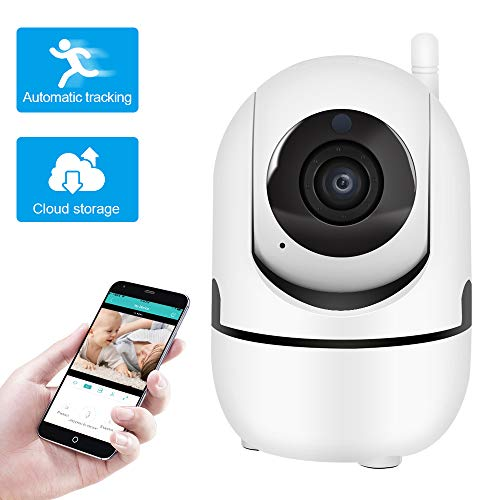 ZhiLiao 2.4G WiFi IP Camera with 2 Way Audio Night Vision auto Tracking, Cloud Storage Wireless 1080P Surveillance Camera for Home Security,Baby, Pet, Nanny Monitor