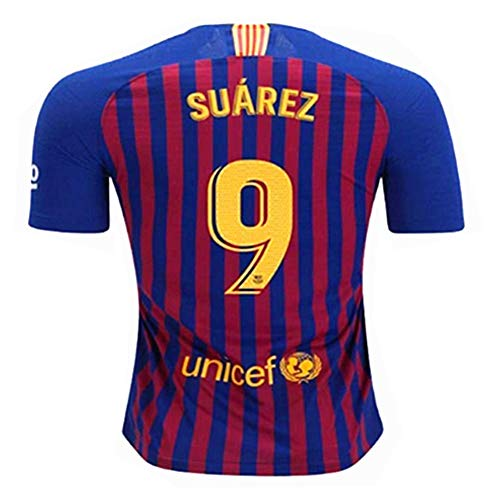 9530fa88d SSDNLWBHHIU Suarez  9 Home 18-19 Season Soccer Jersey Barcelona Mens Color  Blue Red Size M
