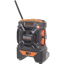 Ridgid R84084 18V X4 Hyper Lithium ion AM/FM Portable Radio Job Site Ipod MP3
