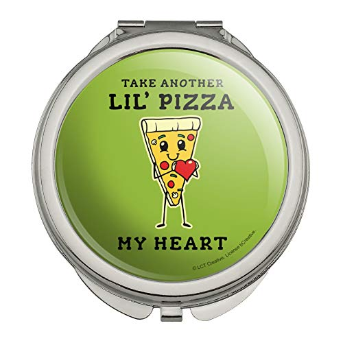 - Take Another Lil' Pizza Piece of My Heart Funny Humor Compact Travel Purse Handbag Makeup Mirror