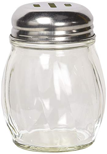Winco G-108 Cheese Shakers with Slotted Tops, 6-Ounce