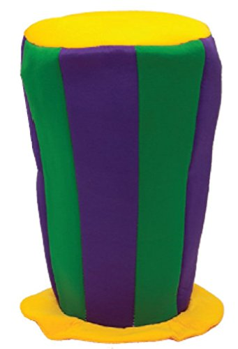 [Jacobson Hat Company Men's Mardi Gras Giant Top Hat, Multi, One Size] (Jumbo Mardi Gras Beads)