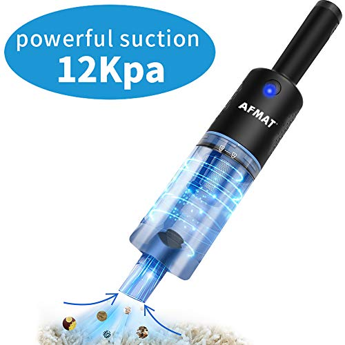 Cordless Hand Vacuum, Rechargeable Powerful Cordless Hand-held Vacuums, 12Kpa Powerful Suction, Cordless Vacuum Cleaner, Quick Charge with Charging Dock, 2 Modes, 35 Minutes Working Time, Black