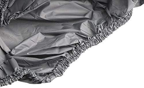 320 100MM RoxTop Housse De Voiture /éTanche Housse De Protection Solaire pour Automobile Membrane De Tissu R/éSistant Aux UV Tissu De Protection Ext/éRieur Respirant; Gris 280