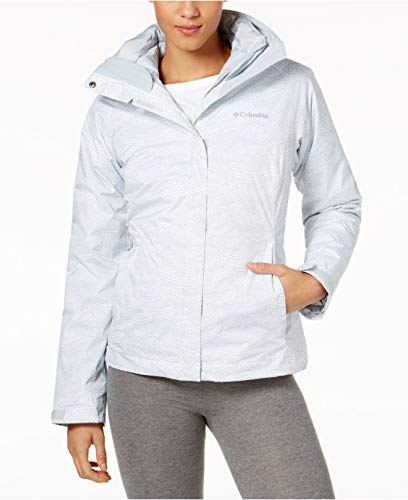 (Columbia Outer West Interchange Insulated Puffer Coat, White Dot, Medium)
